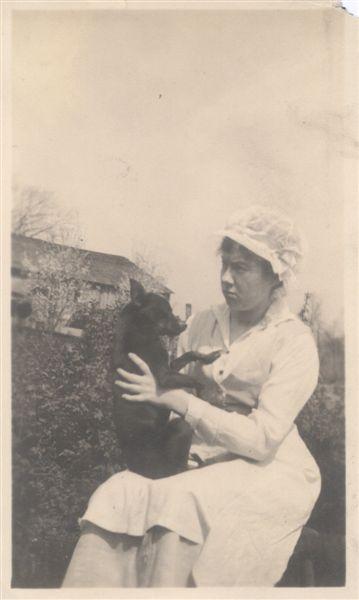 Maid with Dog
